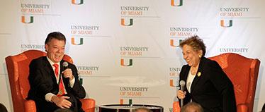 Juan Manuel Santos Calderon and Donna E. Shalala