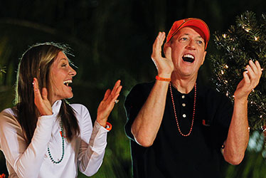 Jim Kelly and wife, Jill