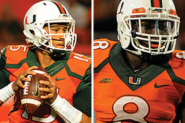 Brad Kaaya and Duke Johnson
