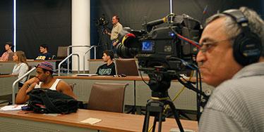 C-SPAN film crew
