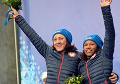 Lauryn Williams in Sochi