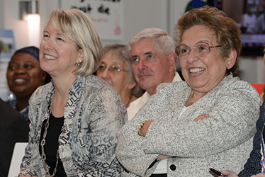 Peace Corps Acting Directer Carrie Hessler-Radelet and UM President Donna E. Shalala