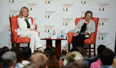 Arianna Huffington and Donna E. Shalala