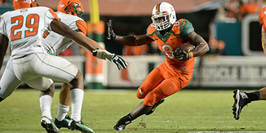 Duke Johnson Running Against FAU