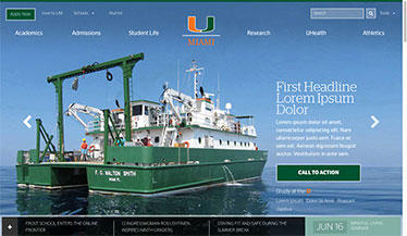 Miami Homepage Redesign