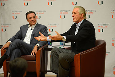 Mike Fernandez and Pat Riley