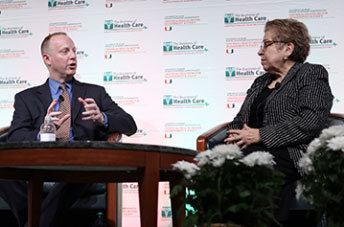 Patrick M. Conway and President Donna E. Shalala