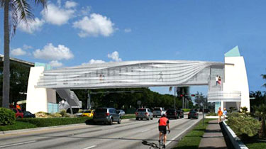 Render of Pedestrian Bridge Over U.S. 1