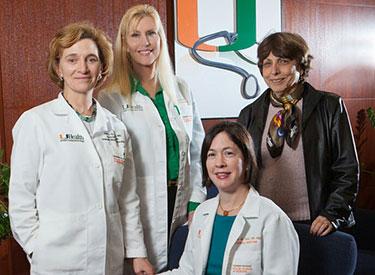 From left, Joan St. Onge, M.D., Heidi Allespach, Ph.D., Yvonne M. Diaz, M.D., Halcyon M. Quinn.