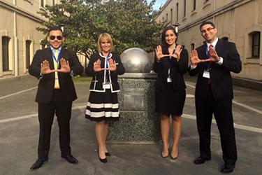 Kevin Correa, Anabel Fernandez, Barbara Cabrera and Zacarias Quezada