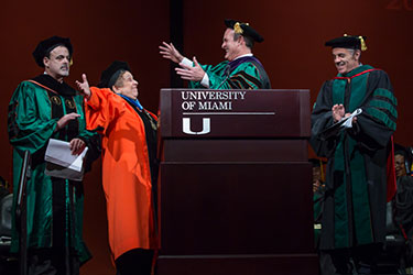 Stuart Miller and Donna E. Shalala at Commencement