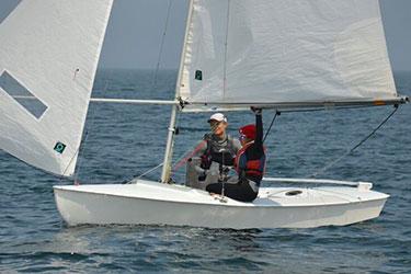 Alexandra Damley-Strnad in sail boat